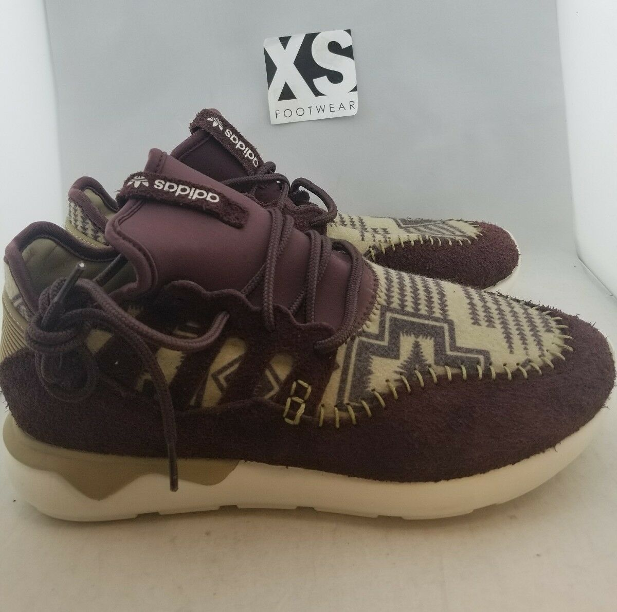 Adidas Tubular Maroon Athletic Sneakers Men's US 9.5 (A,0)