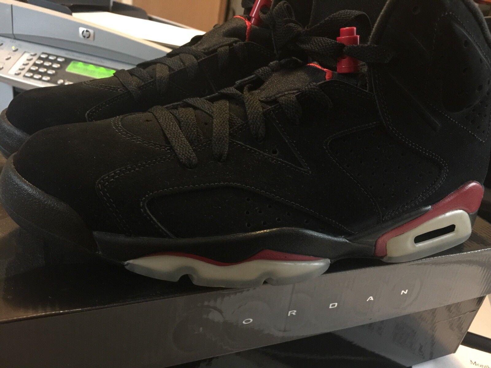 2010 Nike Air Jordan VI 6 Retro Black Infrared Size 11  Pack  BRED