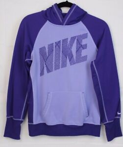 Nike Therma Fit PurpleGray Hoodie Pullover Sweatshirt Women's Size: M