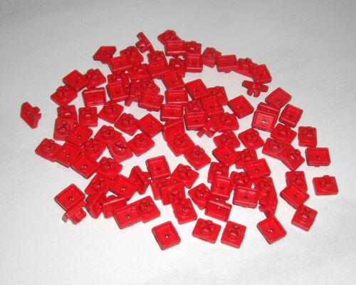 Playmobil 100 Stück Stecker Steckverbinder Verbinder rot System X