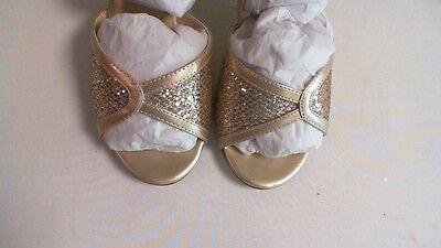 Nuevos Zapatos de boda Dyeables-champán Glitter-Dre-US 10 B UK 8 #13R493