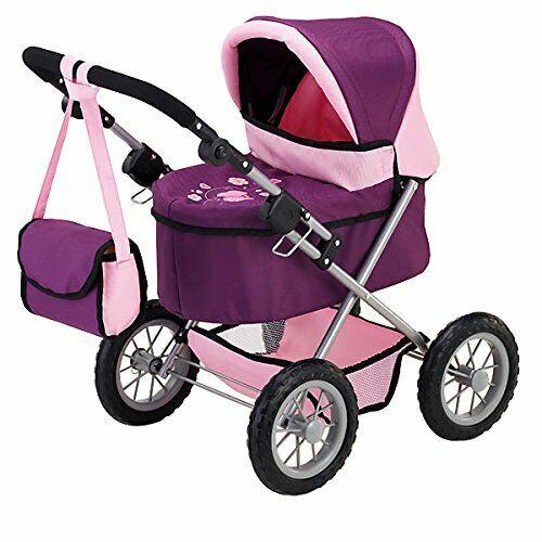BAYER Progettazione Doll carrozzina giocattolo Baby Buggy Bambine Bambini Passeggino Giocattolo PUSH VIOLA NEW