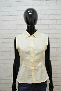 Camicia-MAX-MARA-Donna-Taglia-L-Maglia-Chemise-Blusa-Shirt-Woman-Lino-Chemisa