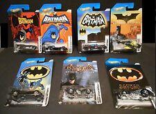 HOT WHEELS BATMAN 1: 64 SCALE BATMOBILES SET OF 7 BAT CARS  VHTF FROM 2011