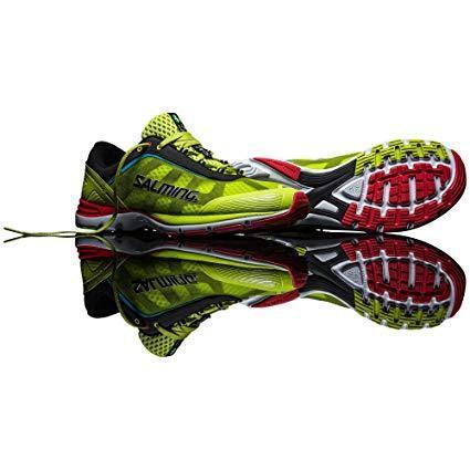 Salming Men's Distance Running shoes, Acid Green, 13 D US