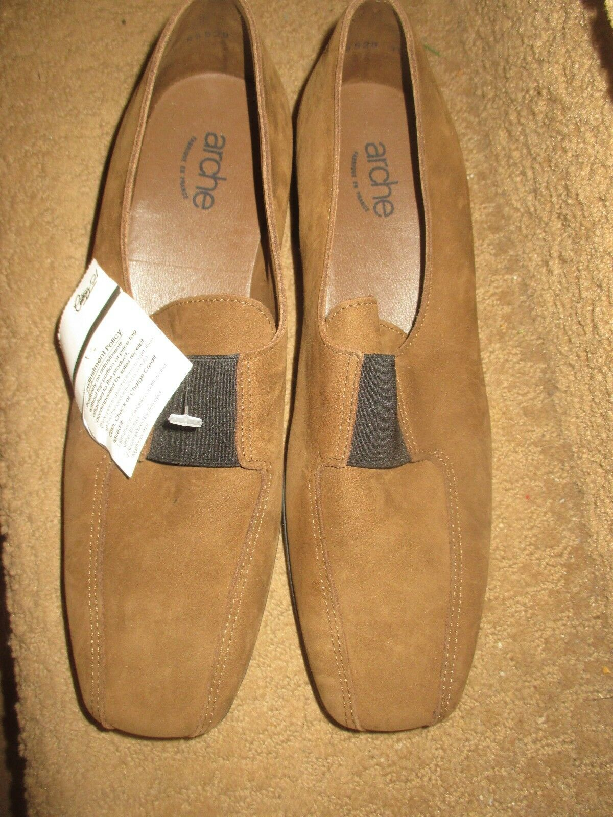 negozio online donna ARCHE Marrone LEATHER WEDGE WEDGE WEDGE scarpe, SZ 40, LQQK    economico e alla moda