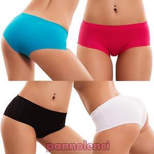 Slip-donna-culotte-liscio-basic-intimo-lingerie-no-segni-vari-colori-nuovi-HC-04