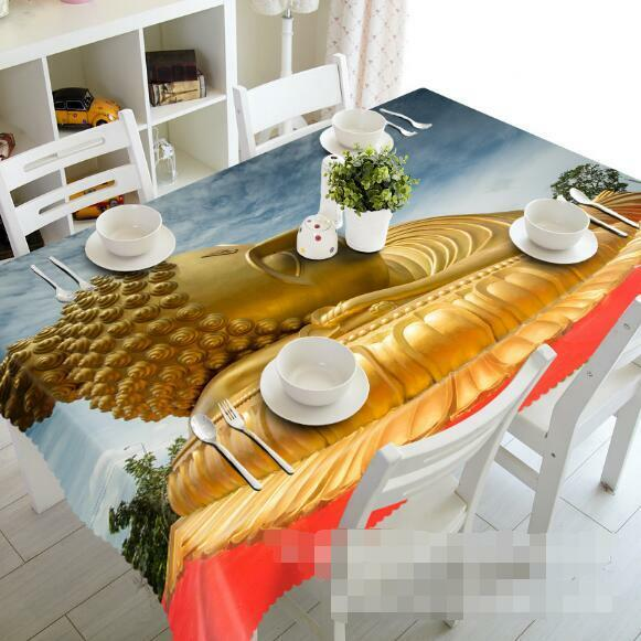 3D 3D 3D Buddha Statue Tablecloth Table Cover Cloth Birthday Party Event AJ WALLPAPER d65395