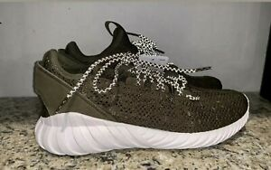 lowest price c6987 feca1 adidas Tubular Doom Sock PK Sneakers Shoes Trace Olive- Mens CQ0683 ...