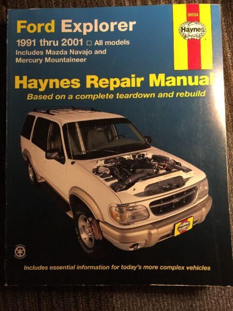 Haynes Repair Manual Ford Explorer 1991