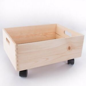 Image Is Loading Large Wooden Stackable Storage Crate With Handles And