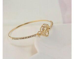 compra meglio ultimo sconto grandi affari Bracciale donna rigido oro argento oro rosa zirconi bracciale alla ...