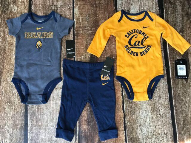 48dfd932b NIKE CALIFORNIA CAL BEARS 3 PIECE SET PANTS BABY BODYSUITS SIZE 6-9 MONTHS  $36