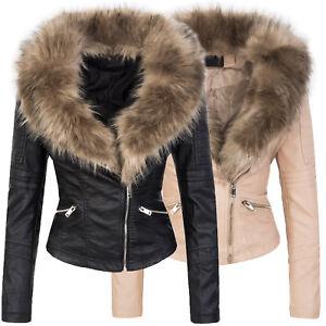 Designer-Giacca-invernale-donna-elegante-collo-con-pellicccia-sintetica