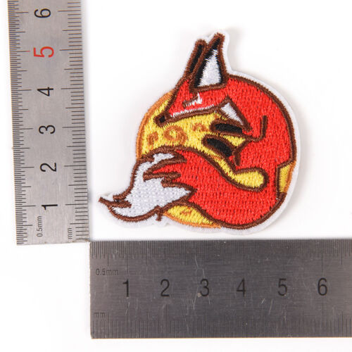 Fox Iron On Patch Embroidered Applique Sewing Clothes Stickers Garment Appare KW