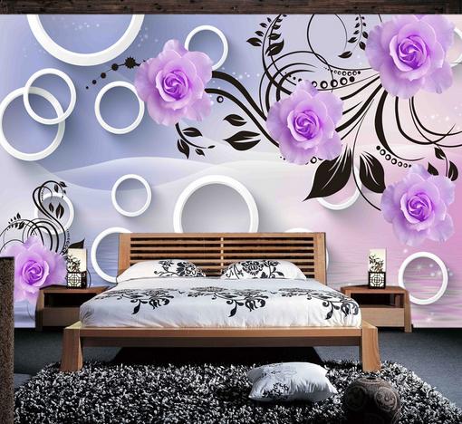 3D Weiß Circle Pattern Petal 8 Wall Paper Wall Print Decal Wall AJ WALLPAPER CA