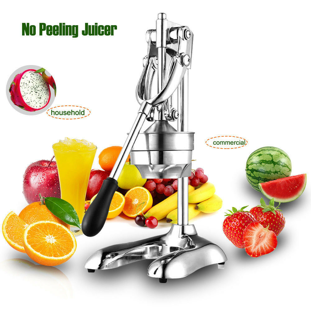 orange Hand Press Commercial Pro Citrus Fruit Lemon Juicer Juice Squeeze