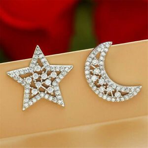 925-Sterling-Silver-Paved-Star-Moon-Crescent-Paved-Cubic-Zirconia-Earrings