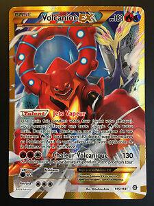carte pokemon full art Volcanion pokemon card 115/114 ultra rare ex full art xy secret