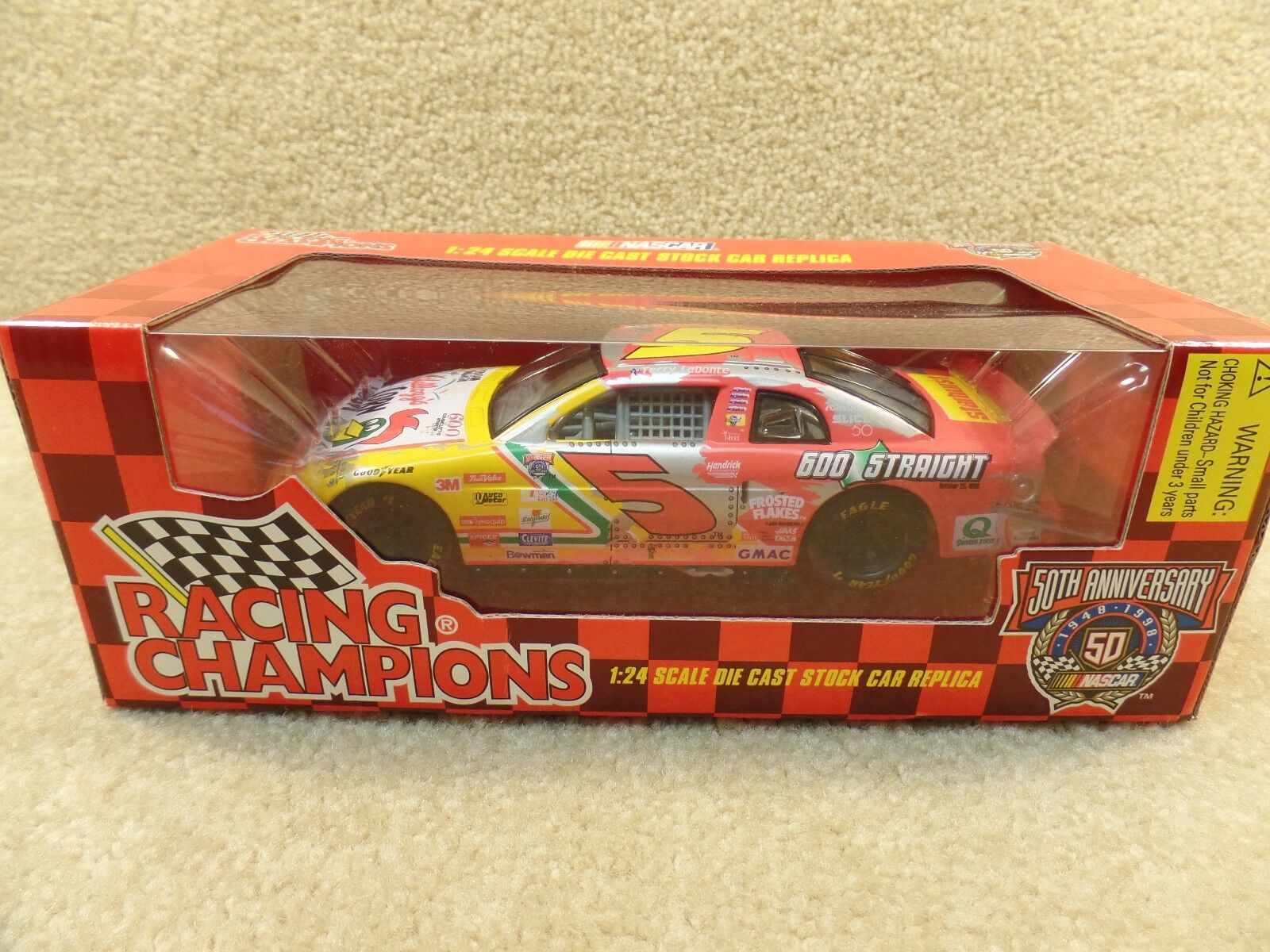 New 1998 Racing Champions 1 24 Diecast NASCAR Terry Labonte 600 Starts Kellogg's