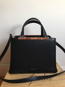 2c4e3a86b37885 NWT !! Ted Baker London Naomii Smooth Leather Tote Should Bag Black ...
