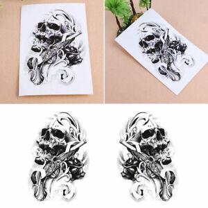 Skull Body Sticker Tattoo for Men Make Temporary Tattoos Paper Fake ...