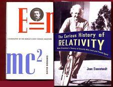 2 Albert Einstein books: E=mc2 & Curious History of Relativity -Free Ship