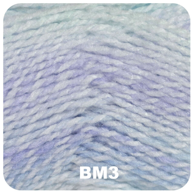 JAMES BRETT BABY MARBLE DOUBLE KNITTING WOOL YARN 5X100G SHADE BM22 LILAC MIX