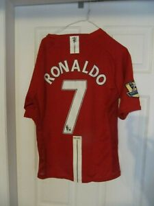 quality design 96fd4 31a4f Details about Cristiano Ronaldo Manchester United L Jersey. All Stitched.  With Barclay patch