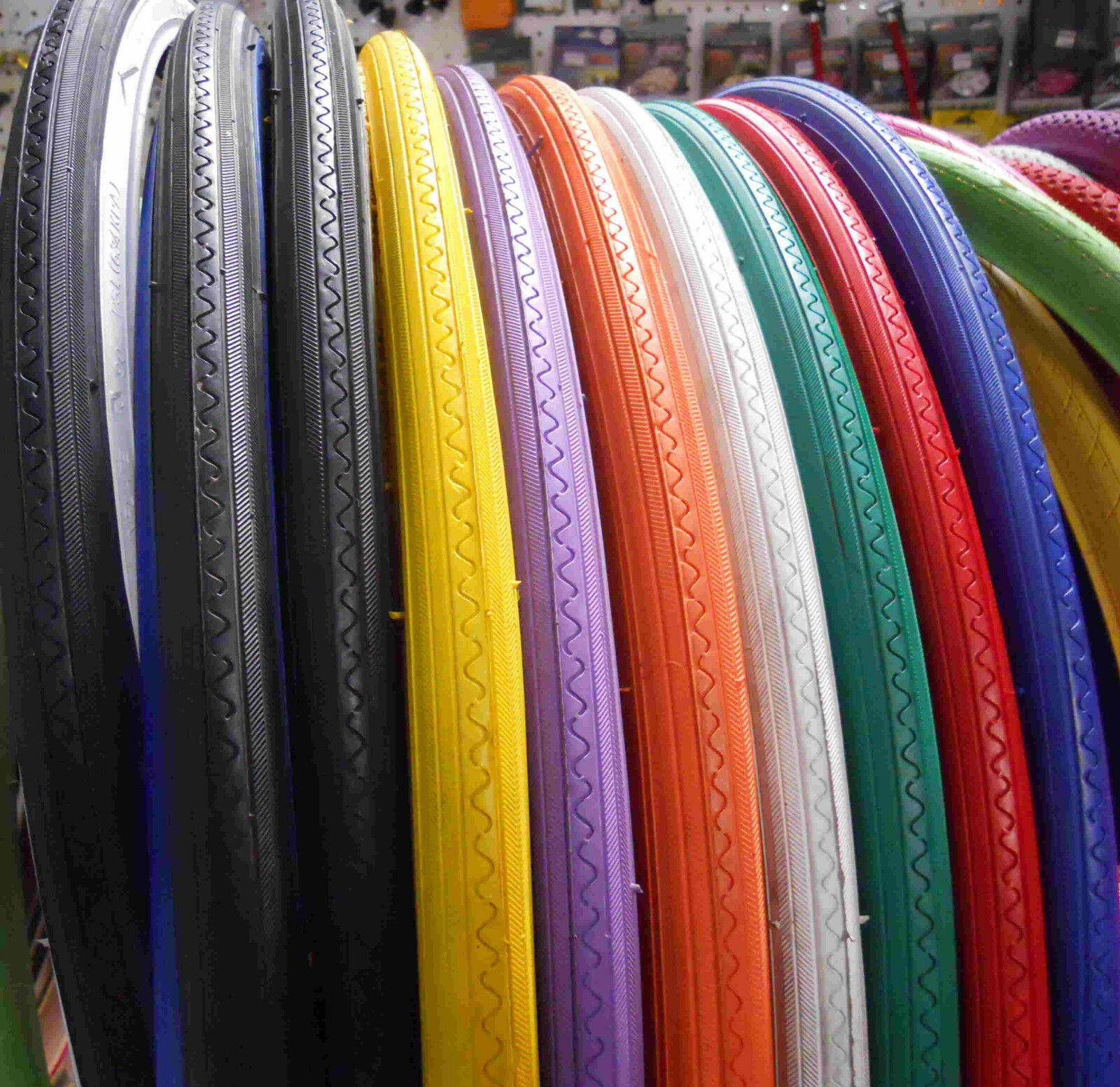 Pair of two Road Bike Bicycle Tire 27 x 1 1//4 DURO Pick up color
