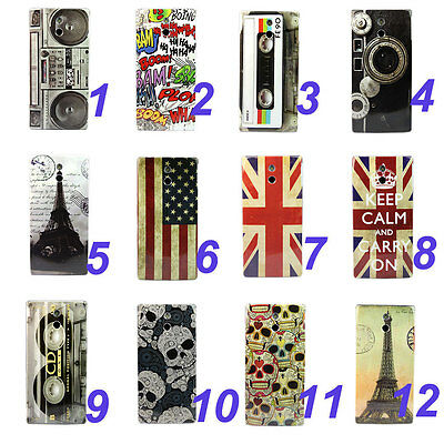 Various Pattern Hard Skin Case Cover For Sony Xperia P LT22i
