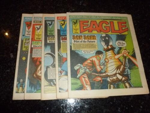 JOB LOT Dates 10//03//1984 To 07//04//1984 5 Comics UK Comic EAGLE COMIC