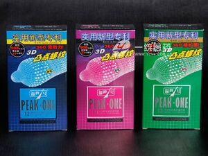 12-pcs-New-Peak-No-1-3D-Long-war-360-Bump-thread-Condoms-Latex-Lubricate-3-Type