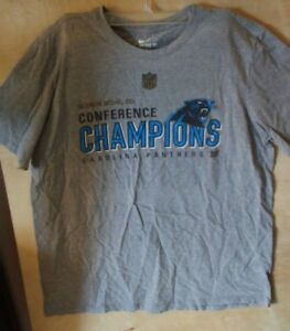 4608242c Details about Carolina Panthers Super Bowl 50 Conference Champions Gray XL  T-Shirt