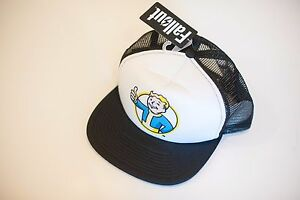 Details about NEW w/TAG FALLOUT 4 Target VAULT BOY Logo Snap Back TRUCKER  HAT Black Mesh O/S