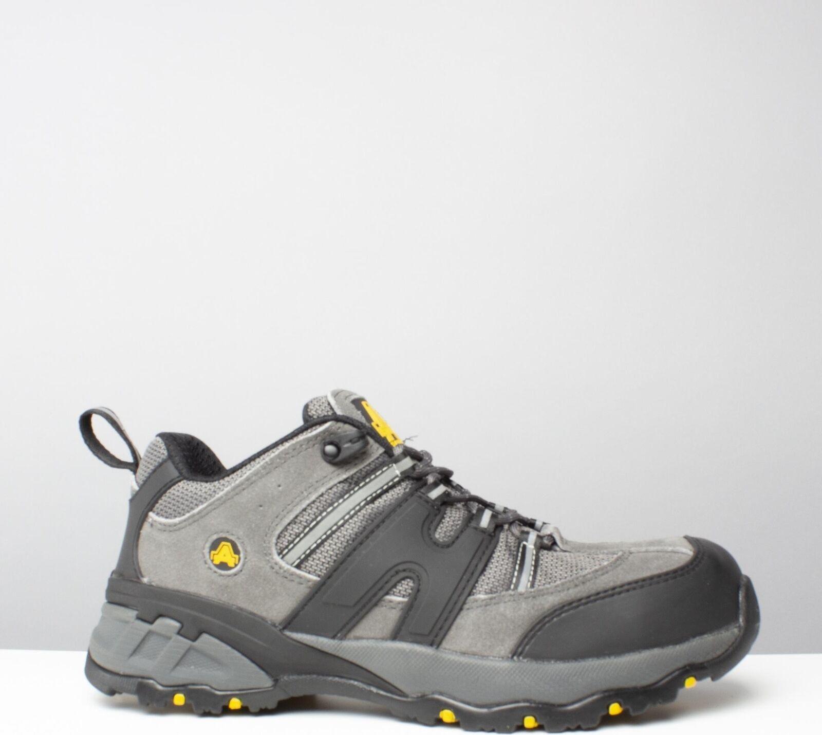 Amblers Safety FS188N Mens Steel Toe Cap Slip Resistant SB Safety Trainers grau