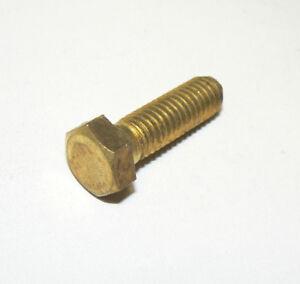 Qty 20 3//8-16x1 Hex Head Cap Screws Solid Brass