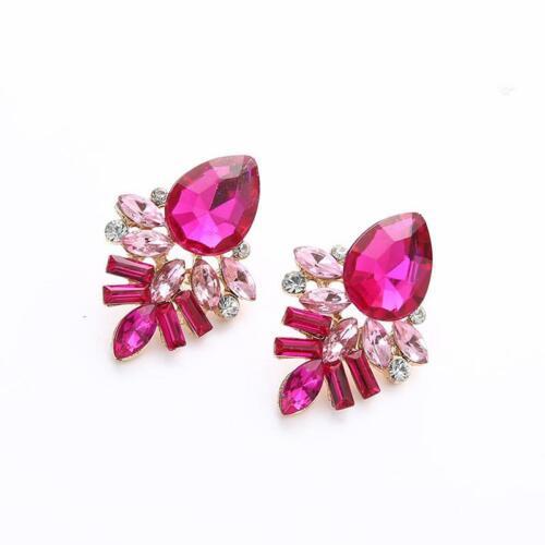 Various Style Multi-Color Bohemian Fashion Ear Stud Crystal Drop Earrings C
