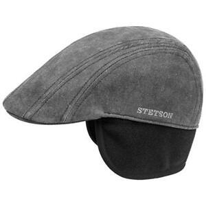 Cap Madison Beanie Stetson Vintage Flatcap Paraspalle neri Fleeceinlett 1 dBhQtrxsC