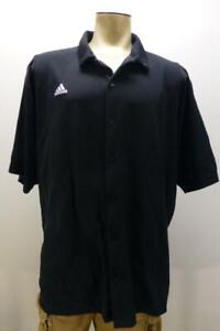 ADIDAS ClimaCool black short sleeve b/u microfiber polo Shirt mens sz 2XL XXL