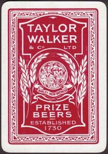 Playing Cards 1 Single Card Old Wide Taylor Walker Brewery Beer Advertising Art Ebay