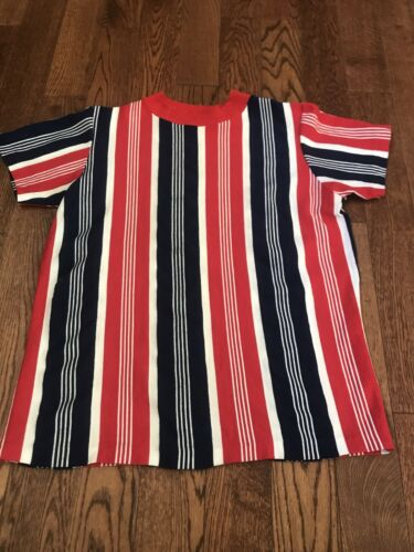 Vintage 60's 70's Red White Blue Striped T-shirt -