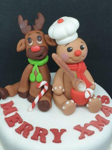 Edible Christmas Elf Snowman Santa Letterbox Combined P/&P Handmade Cake Topper