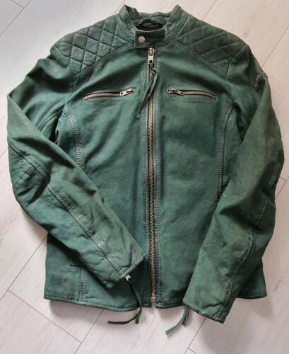TIGHA Herren Biker Lederjacke  Wido Emerald Size M