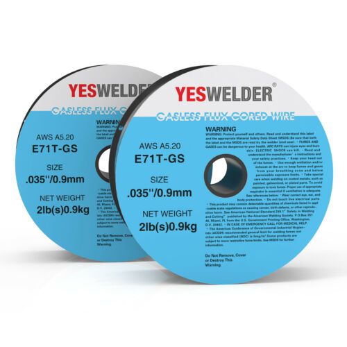 2 Rolls E71T-GS .035 in Gasless-Flux Core Wire Welding Dia 2lb