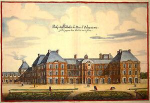 Gravure-Kupferstich-Print-Caspar-MERIAN-Topographia-Galliae-Palais-du-Luxembourg