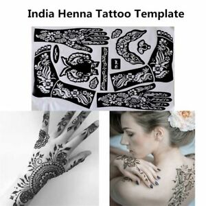 Arm-Leg-Feet-Temporary-Decal-Tattoo-Stencils-India-Henna-Kit-Body-Art-Template