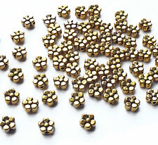 50 x Nice Quality 6mm Gold Plated Flower Daisy Spacer Beads, Jewellery/Craft
