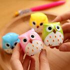 5Pcs Mini Funny Lovely Owl Pattern Pencil Sharpener School Kid's Favorite Nice