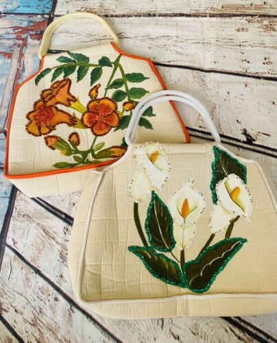 VTG. Hand Painted Flora Bags